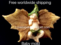 Baby mold, Elf mold, Pixie mold,  Fondant Fairy , Free worldwide shipping. (1)